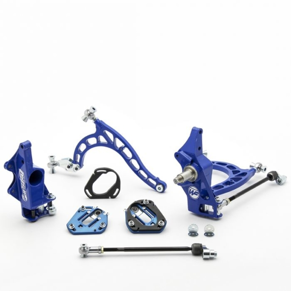 Nissan S14 S15 Front V2 Drift Angle Lock Kit with Rack Offset Spacers
